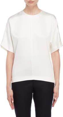 Jil Sander Silk Short Sleeve Blouse