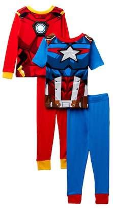 Iron Man Captain America & Cotton Pajamas - Set of 2 (Little Boys & Big Boys)