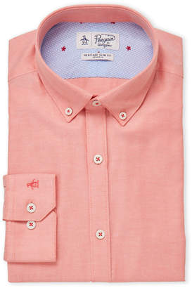 Original Penguin Orange Heritage Slim Fit Dress Shirt