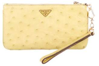 Prada Struzzo Zip Wallet