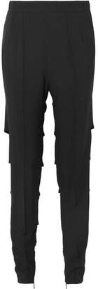 Christopher Kane Cutout Stretch-crepe Straight-leg Pants - Black