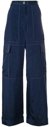Sonia Rykiel pinstripe cargo trousers