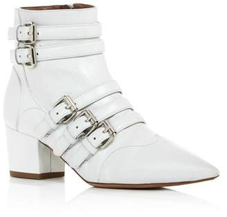Tabitha Simmons Christy Buckled Block Heel Booties