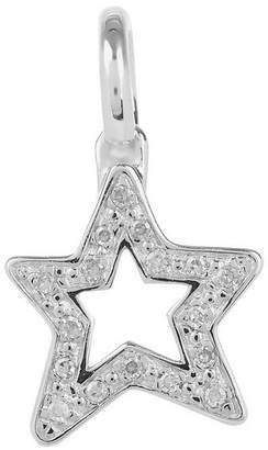 Monica Vinader Silver Alphabet Diamond Star Pendant