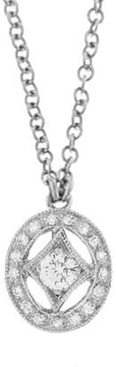 Cathy Waterman Diamond Oval Charm Necklace