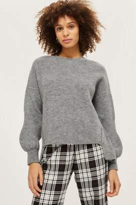 Topshop PETITE Mohair Crew Sweater
