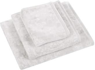 Sanderson Riverside Damask Towel - Silver - Guest Towel