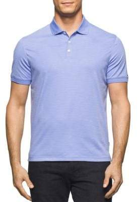 Calvin Klein Muted Stripe Cotton Polo