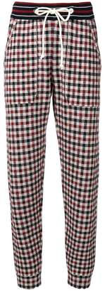 MRZ grid patterned trousers