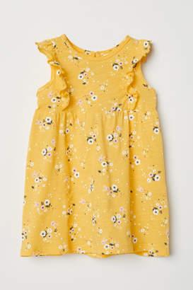 H&M Patterned Cotton Dress - Yellow