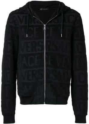 Versace all over logo hoodie