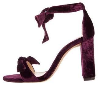 Alexandre Birman Clarita Velvet Sandals w/ Tags
