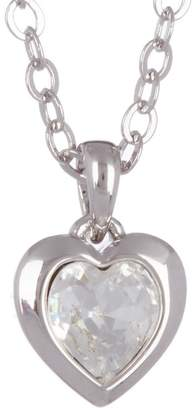 Ted Baker Hannela Bezel Set Swarovski Crystal Accented Heart Pendant Necklace