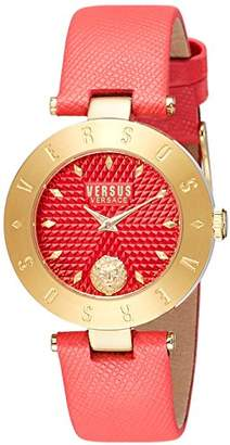 Versus By Versace Women's 'New Logo' Quartz Stainless Steel and Leather Casual Watch