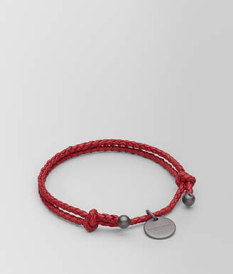 Bottega Veneta CHINA RED INTRECCIATO NAPPA BRACELET