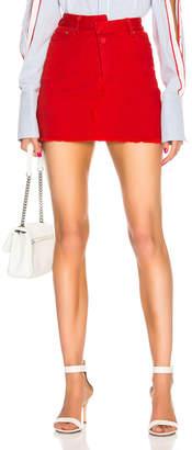 Monse Reconstructed Denim Mini Skirt