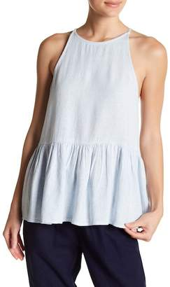 Abound Halter Linen Blend Peplum Top