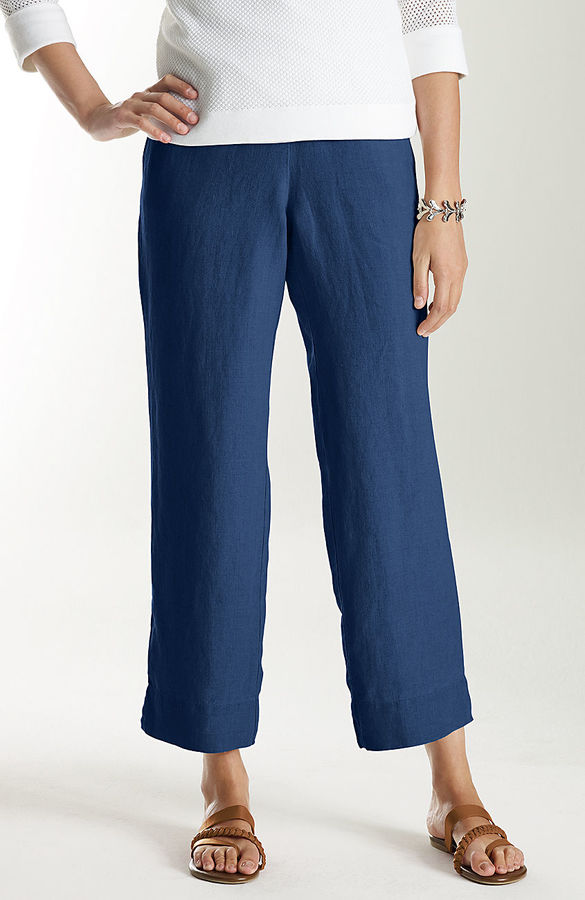 J. Jill Easy linen cropped pants