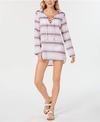 Miken Juniors' Cotton Hooded Cover-Up Women Swimsuit