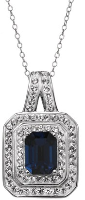 Swarovski Sterling N Ice Sterling 'N' Ice Crystal Sterling Silver Tiered Pendant Necklace - Made with Crystals
