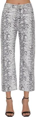 Alexander Wang Snake Print Cotton Denim Jeans