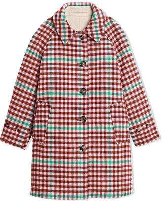 Burberry reversible checked coat
