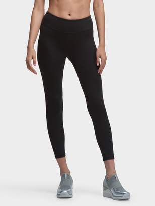 DKNY Cropped Logo Legging With Mesh Panels