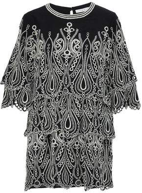 IRO Tiered Broderie Anglaise Cotton Mini Dress