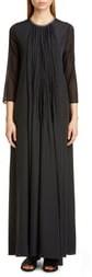 Fabiana Filippi Pleated Chiffon Sleeve Maxi Dress
