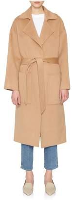 Nanushka Alamo Camel Wrap Coat