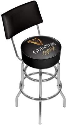 Guinness Trademark Gameroom Swivel Bar Stool With Back