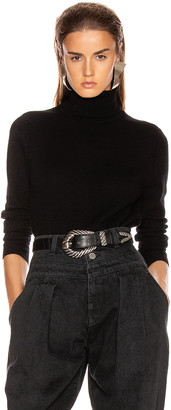 Equipment Delafine Turtleneck Sweater in True Black   FWRD