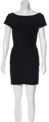 Herve Leger Short Sleeve Bandage Dress