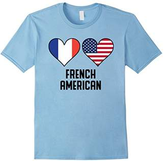 French American Heart Flags T-Shirt