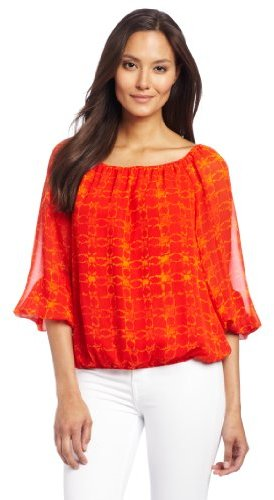 Chaus Women's 3/4 Sleeve Ethnic Geo P...