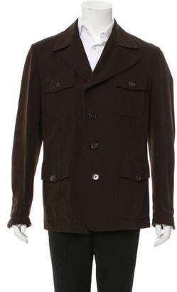 Hermes Leather-Trimmed Field Jacket