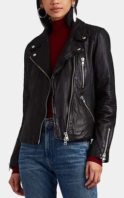 Barneys New York Women's Quilted Leather Moto Jacket - Black