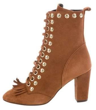 Giuseppe Zanotti Bebe Embellished Ankle Boots w/ Tags