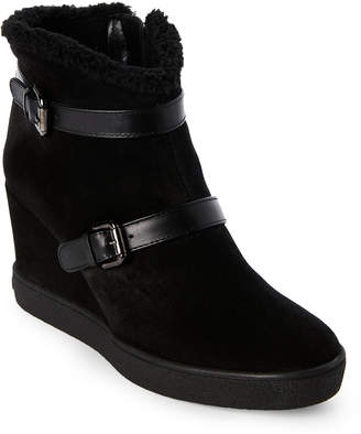 Aquatalia by Marvin K Black Christy Weathproof Wedge Booties
