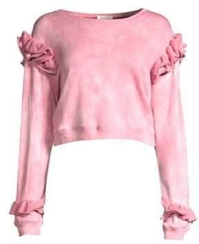 LoveShackFancy Bleached Ruffle Sweatshirt