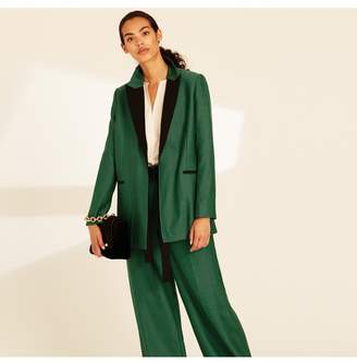 Amanda Wakeley Emerald Herringbone Boyfriend Jacket