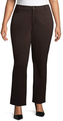 ST. JOHN'S BAY Straight Leg Ponte Pant - Plus
