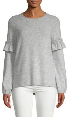 Design History Ruffle-Sleeve Sweater