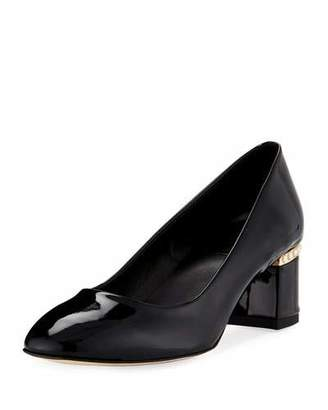 Sesto Meucci Meta Patent Pearly Pumps, Black