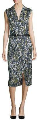 Jason Wu Sleeveless Embroidered Dress W/Belt, Navy/Basil $14,195 thestylecure.com