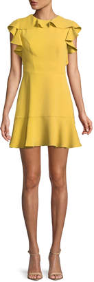 Amanda Uprichard Emery Sleeveless Flounce Mini Dress