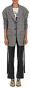 R 13 Women's Prince of Wales Checked Wool Blazer