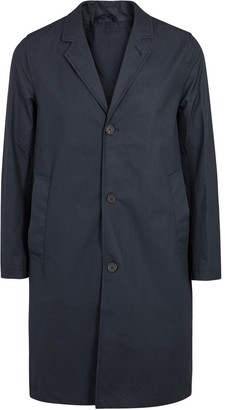 Kivik navy cotton shell raincoat