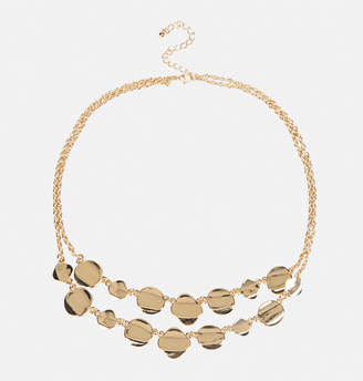 Avenue Smooth Disc Layered Necklace
