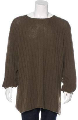 John Varvatos Camel Hair Crew Neck Sweater